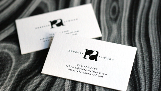 Rebecca-Atwood-logo-branding-black-foil-business-card-by-Erika-Brechtel