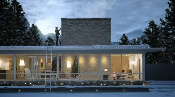 Modern Houses in Holiday Ads - Erika Brechtel