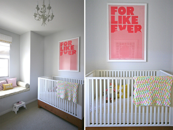 A pink & yellow safari: crib