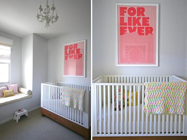 A pink & yellow safari: crib