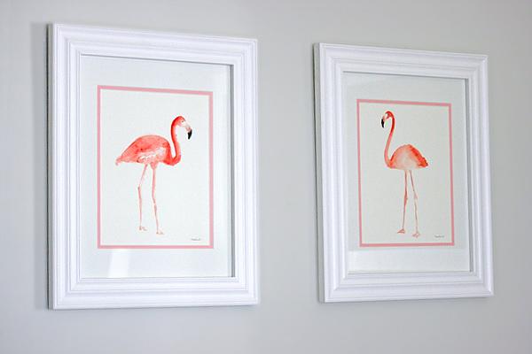 A pink & yellow safari: flamingos