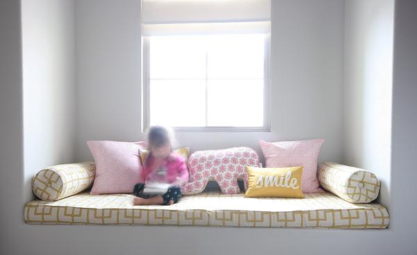 A pink & yellow safari: window seat