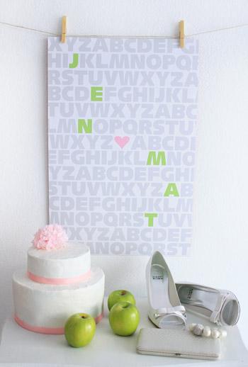 Made By Girl: green apple wedding print