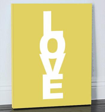 Made by Girl: love custom canvas