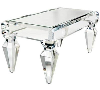 1stdibs craig vandenbrulee lucite mirror top coffee table