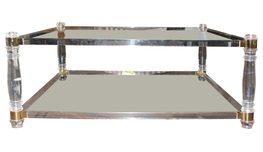 1stdibs square lucite table