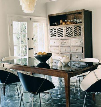 Estee Stanley Claire Forlani's dining room in Domino
