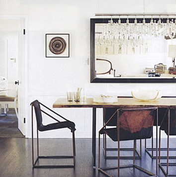 Estee Stanley Claire Forlani's formal dining room in Domino