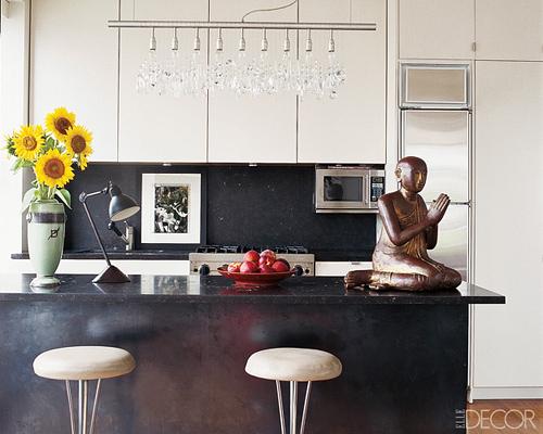 Sally Hershberger's kitchen in Elle Decor