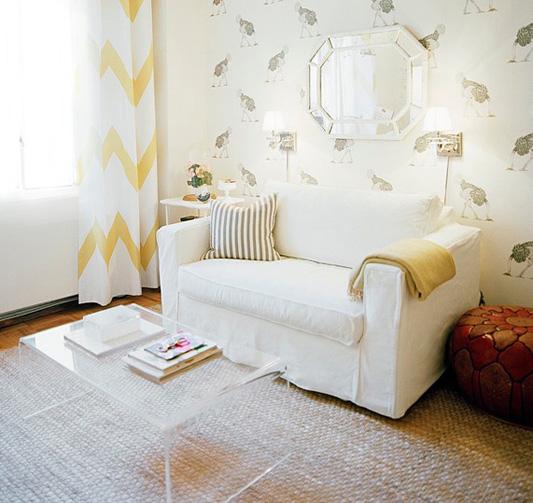 Michelle Adams living room via Lonny