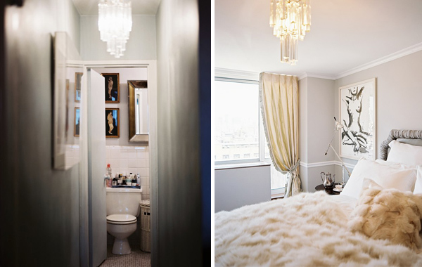Ryan Korban bathroom & bedroom in Lonny