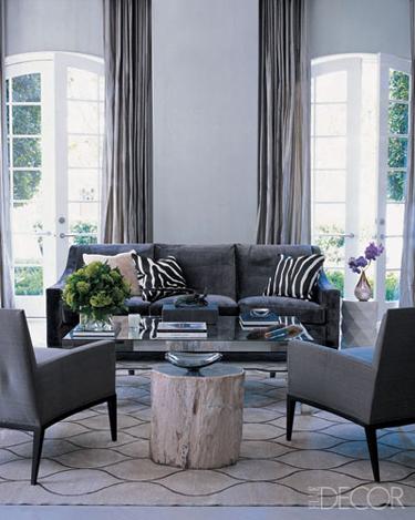 Monique Lhuillier living room Elle Decor
