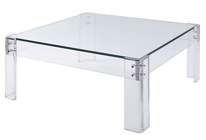 Wisteria acrylic glass coffee table