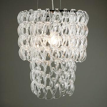 Z Gallerie glass links chandelier