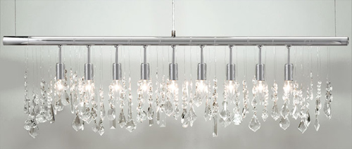 Z Gallerie linear strand crystal chandelier