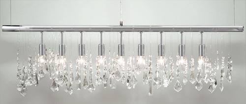 Z Gallerie linear strand crystal chandelier