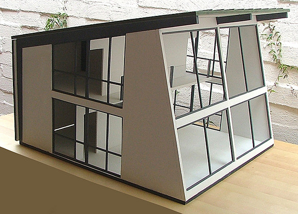The modern dollhouse for my modern girl erika brechtel for Modern miniature house designs