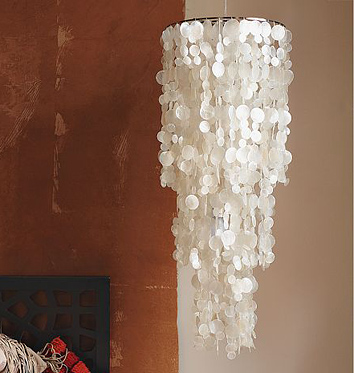 Cheaper chandeliers big bang little bucks erika brechtel west elm capiz hanging chandelier aloadofball Gallery