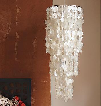 West Elm capiz hanging chandelier
