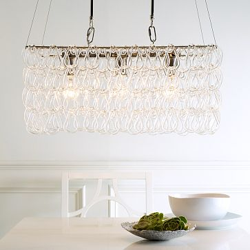 West Elm glass links chandelier