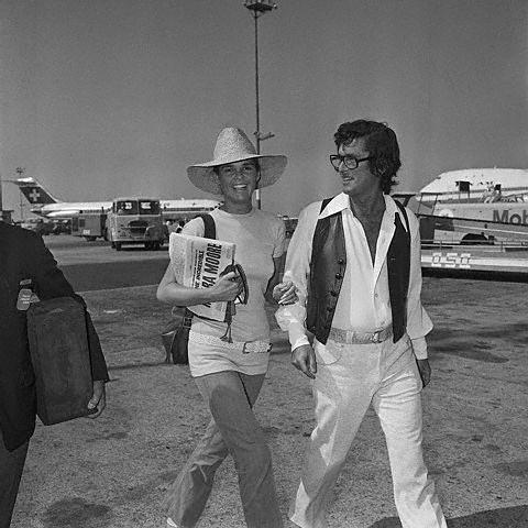 Ali MacGraw and Robert Evans