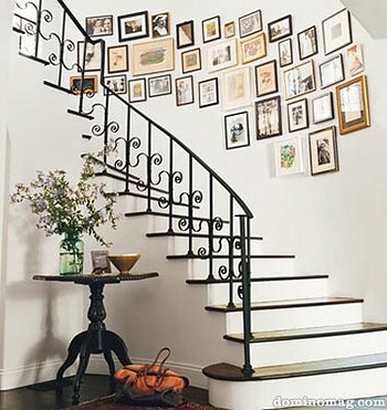 Amanda Peet's staircase in Domino