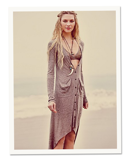 Beach Day: Free People's ribbed up maxi cardi