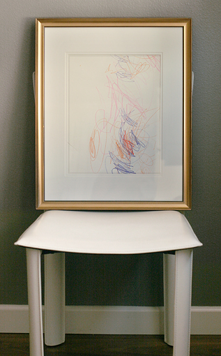 DIY art: scribbles framed
