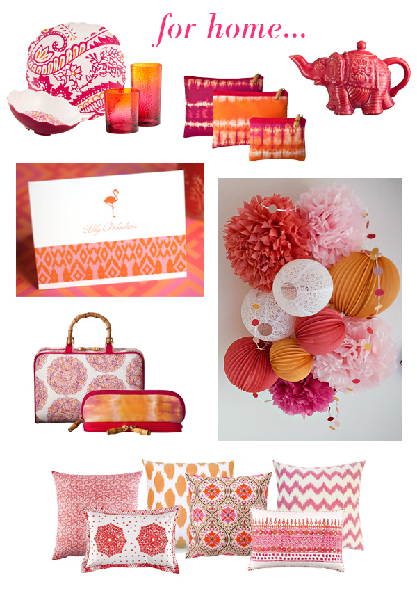 pink & orange boho for home