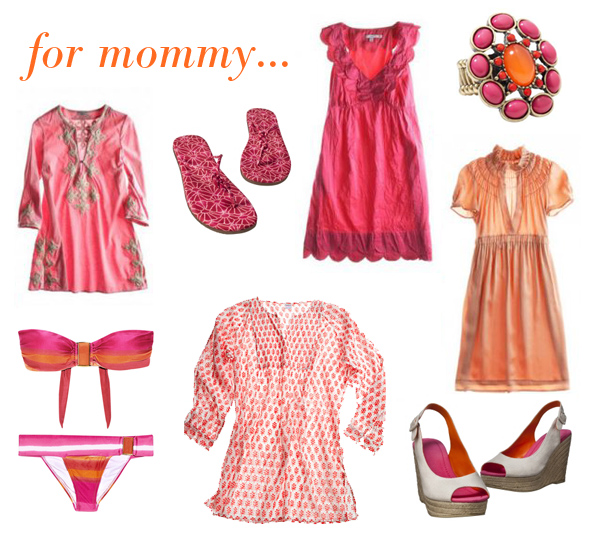 pink & orange boho for mommy