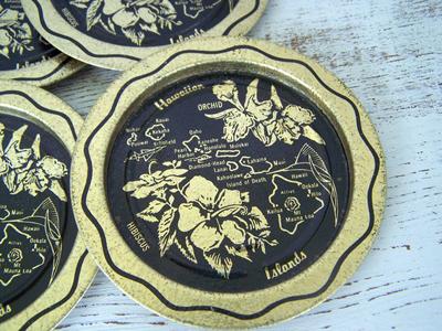 Etsy purchase: vintage Hawaiian 6pc souvenir coaster set