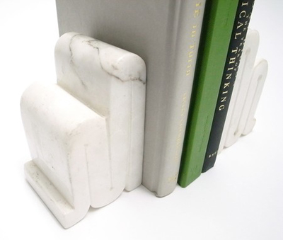 Etsy purchase: vintage carrera marble bookends