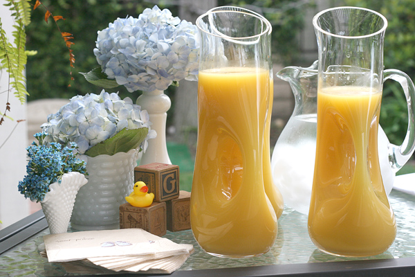 Vintage Chic Baby Boy Shower: Mimosa Bar