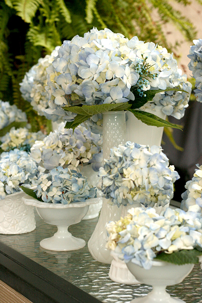 Vintage Chic Baby Boy Shower: flowers
