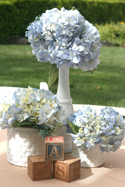Vintage Chic Baby Boy Shower: table