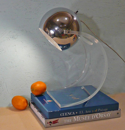 vintage sonneman acrylic chrome lamp on Etsy