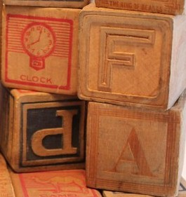 vintage wooden blocks on Etsy
