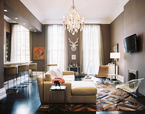 Martine Chaisson's living room via Lonny