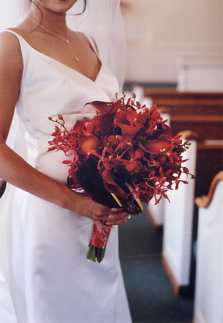 Napa winery wedding: bridal bouquet