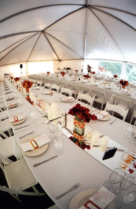 Napa winery wedding: reception tent