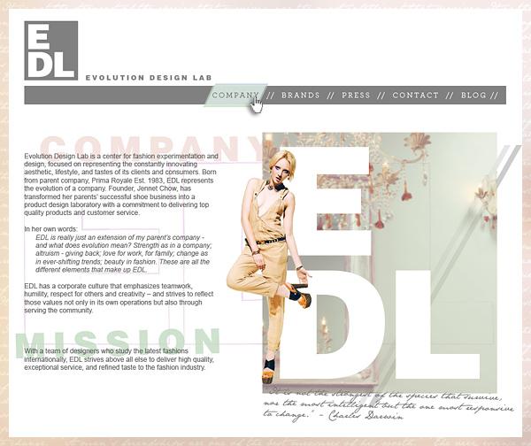 Evolution Design Lab: site design