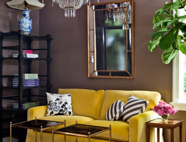 High-Gloss-3-Kristen-Buckingham-yellow-sofa-dark-gray-wall