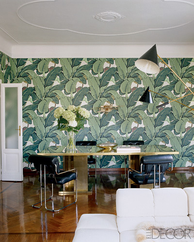 Nate Berkus dining room Martinique via Elle Decor