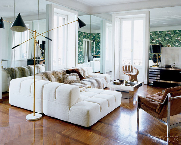 Nate Berkus living room Martinique via Elle Decor
