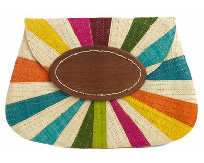 rainbow clutch on epaulet
