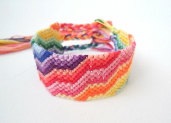 rainbow friendship bracelet by the math lady on etsy