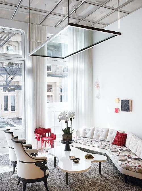 Lela Rose's living room in NYT