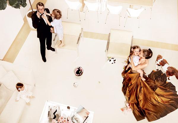 SJP at home in Bottega Veneta, Vogue