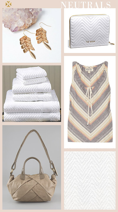 small shop: chevron reinterpreted, neutrals