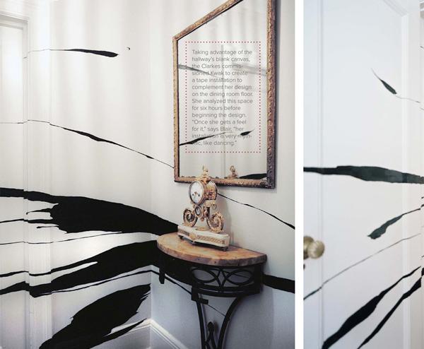Blair Clarke's taped wall by Sun K. Kwak, Lonny, Sept/Oct 2011